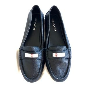 Coach leatherette loafers - new, never worn